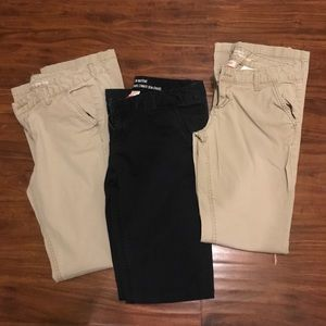3 pairs of slim boot-cut pants